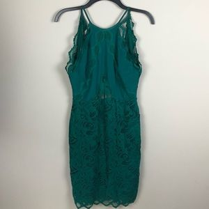 NWT H&M Emerald Green Lace Dress